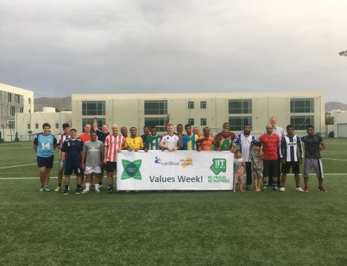 OIG Facilities Management Team wins the Carillion Alawi Values Week football challenge